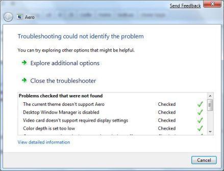 Enable Aero in Windows 7