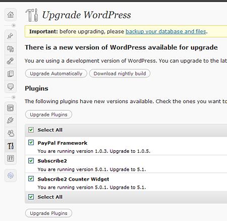 Wordpress Batch Plugin Update