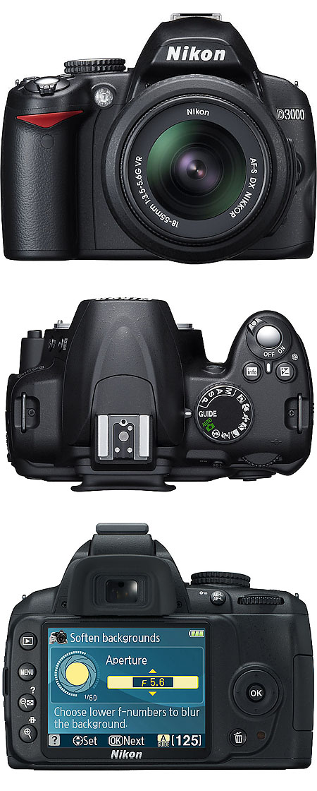 Nikon D3000 Price, features and specifications